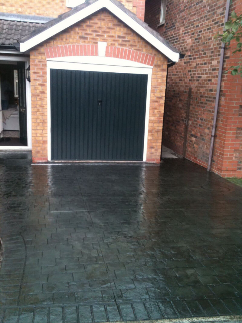 New Concrete Driveway In The Gatle