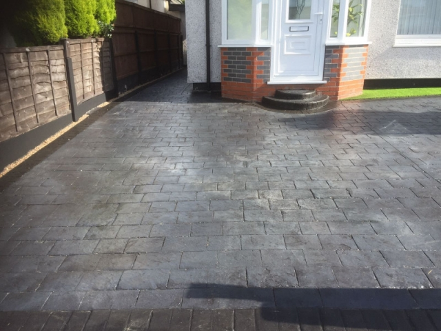 New driveway and artificial grass garden Wythenshawe 1