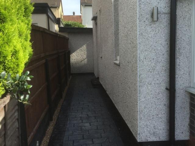 New driveway and artificial grass garden Wythenshawe 2