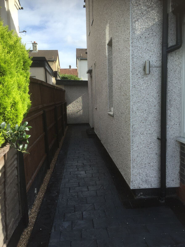 New driveway and artificial grass garden Wythenshawe -