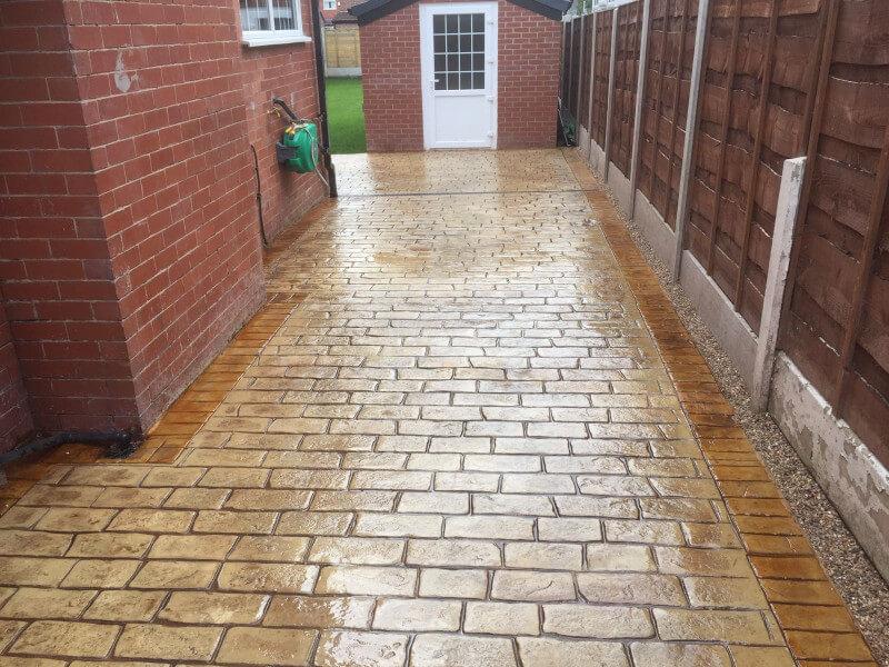 Sandstone driveway Burnage, Manchester 6
