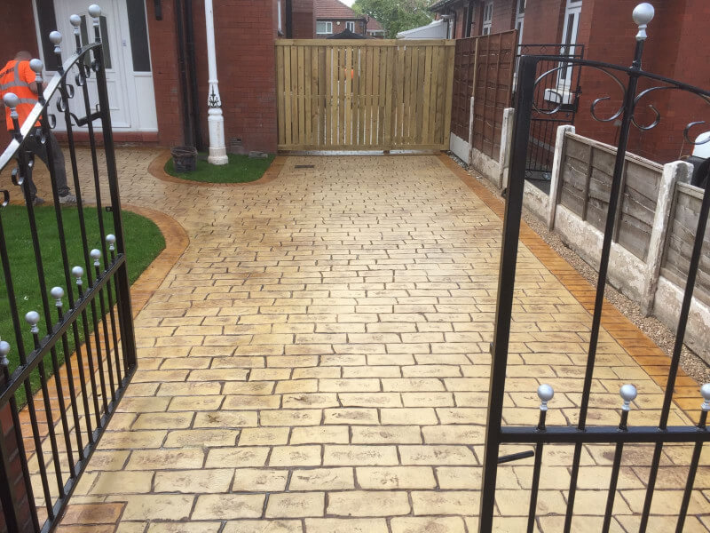 Sandstone driveway Burnage, Manchester
