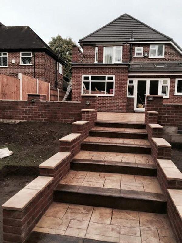 Sandstone steps Northenden 02