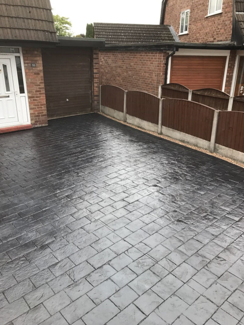 New London concreate cobble printed driveway Timperly