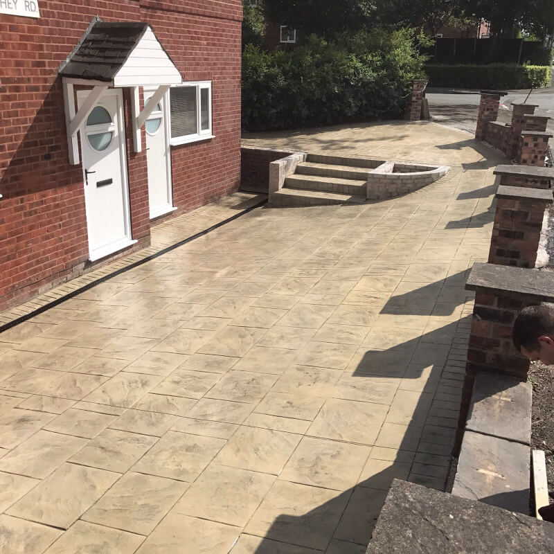 Completed Driveway and wall