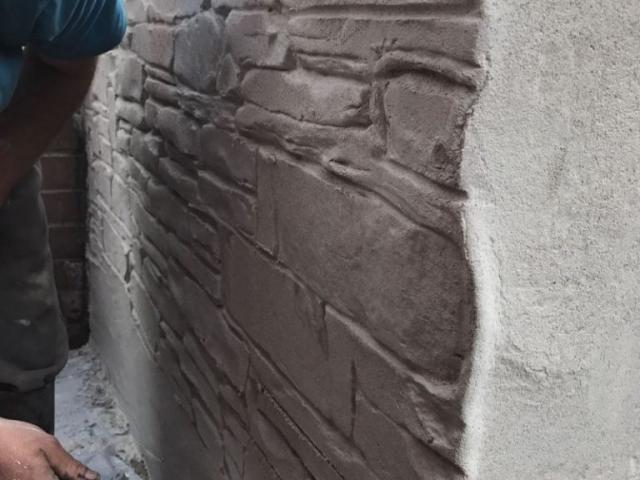 New wall in progress