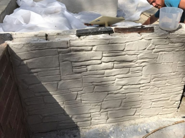 New Driveway and wall in progress