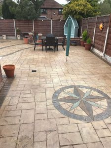 New pattern imprinted patio in Cheadle