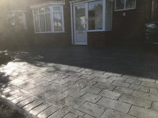 New Pattern Imprinted Concrete Driveway in Heald Green