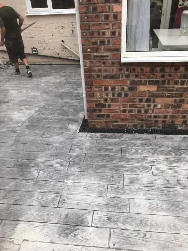 New Imprinted Concrete Patio in Wythenshawe
