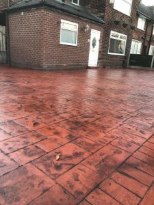 New concrete driveway in Wythenshawe, Manchester