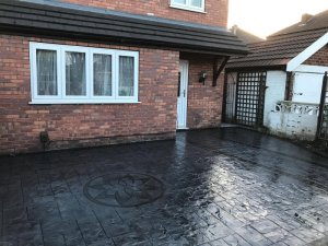 New concrete driveway in Didsbury, Manchester