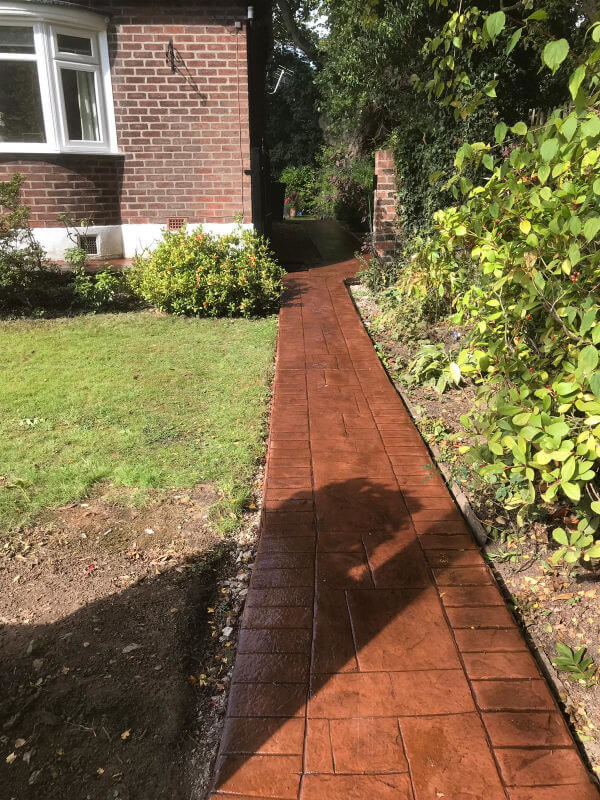 New driveway and pathway installation Gatley