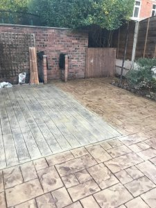 New concrete patio in Didsbury, Manchester