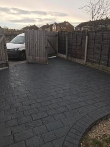New Rear Driveway and Patio in Wythenshawe