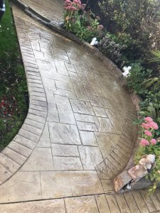Imprinted Concrete Patio