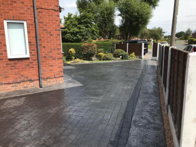 New driveway Cheadle Hulme Stockport