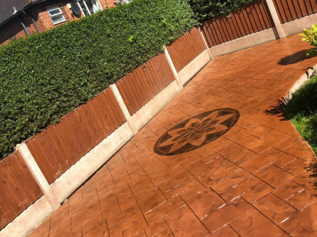 New patio and path in Wythenshawe