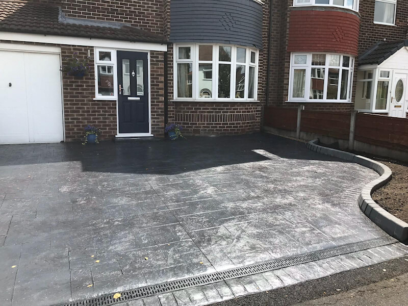 New driveway in Sale Manchester