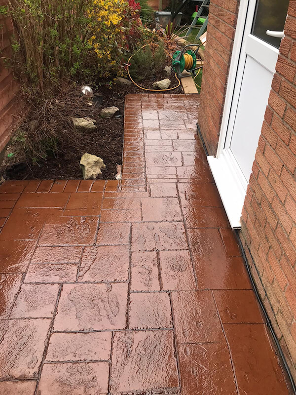 New driveway and paths in Leigh Wigan