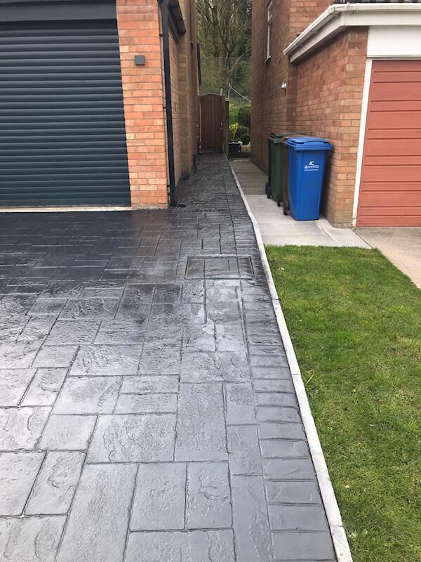Pattern imprinted concrete driveway Gatley