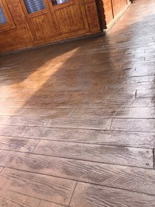 Wood Plank Effect Concrete Patio in Manchester