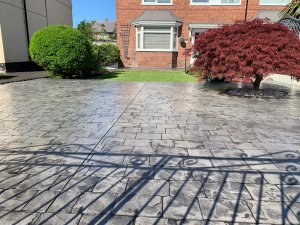 New Pattern Imprinted Concrete Driveway in Wythenshawe