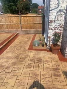 New Pattern Imprinted Concrete Patio in Manchester