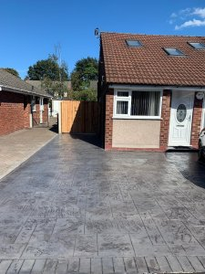 New Pattern Imprinted Driveway in Heald Green