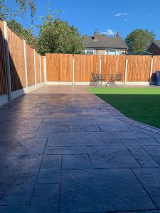 New Pattern Imprinted Patio in Heald Green