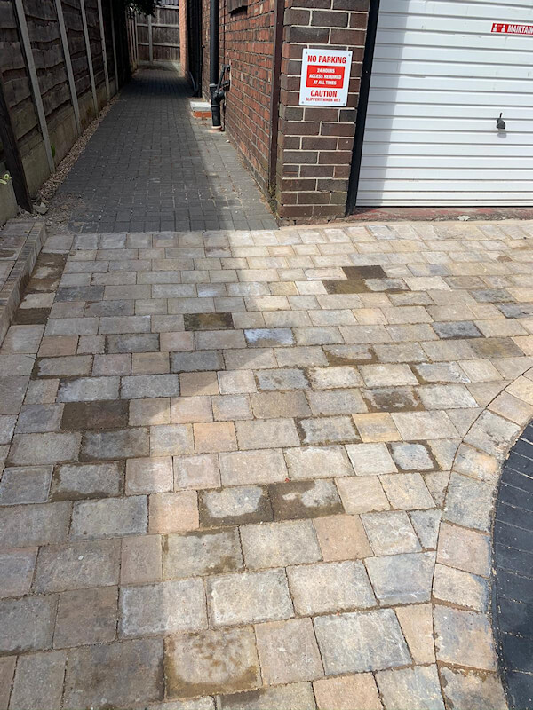 New driveway in Brooklands