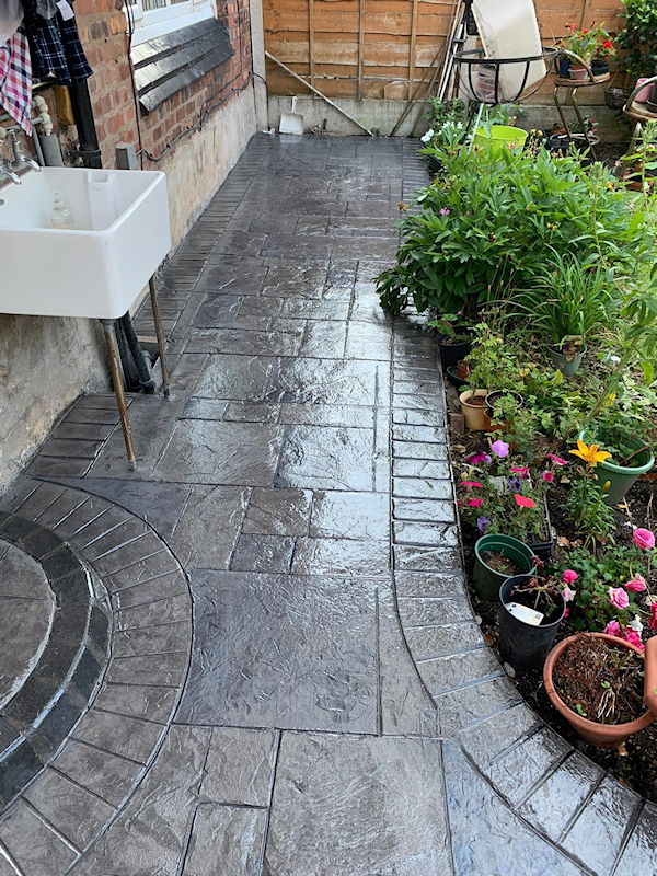 New patio and driveway in Didsbury