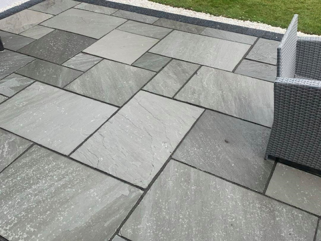 New Indian stone patio